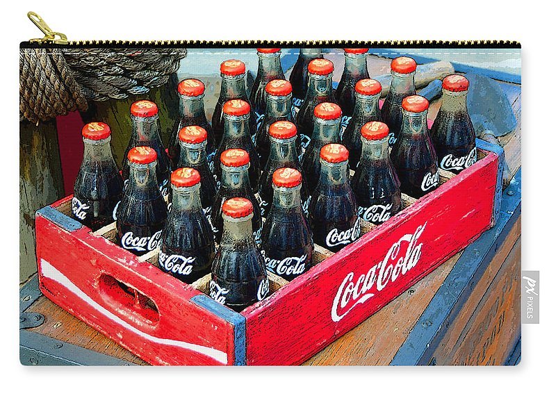 Art Carry-all Pouch featuring the painting Coke Case by David Lee Thompson