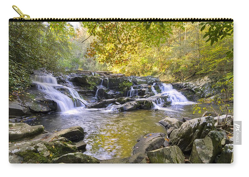 Appalachia Carry-all Pouch featuring the photograph Coker Creek Falls by Debra and Dave Vanderlaan