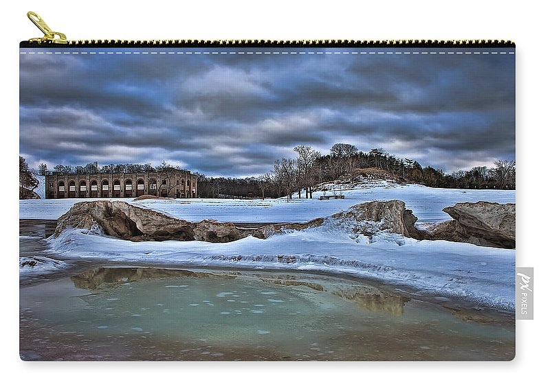 Dunes Carry-all Pouch featuring the photograph Cold Day At The Beach by Scott Wood