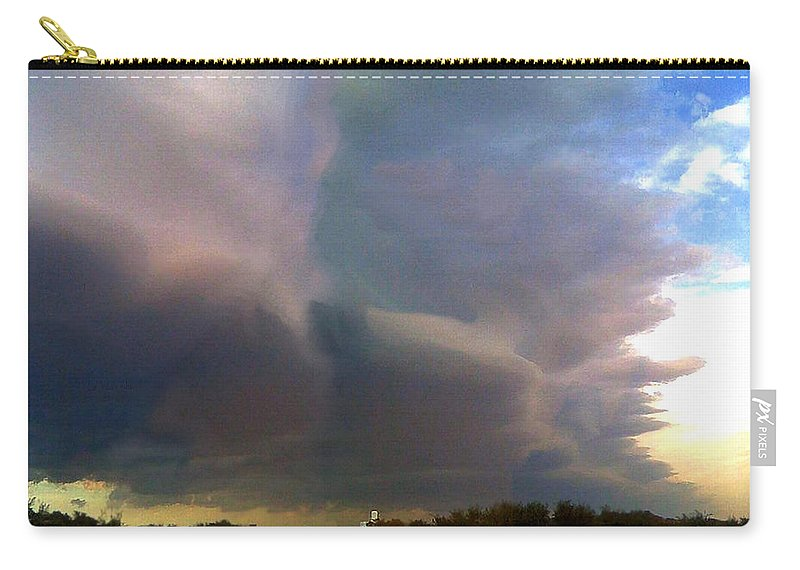 Cold Front Carry-all Pouch featuring the painting Cold Front by Troy Caperton