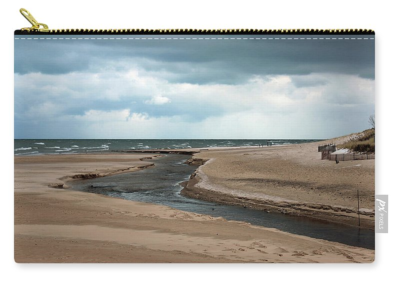 Beach Carry-all Pouch featuring the photograph Cold Morning At The Beach by Jackson Pearson