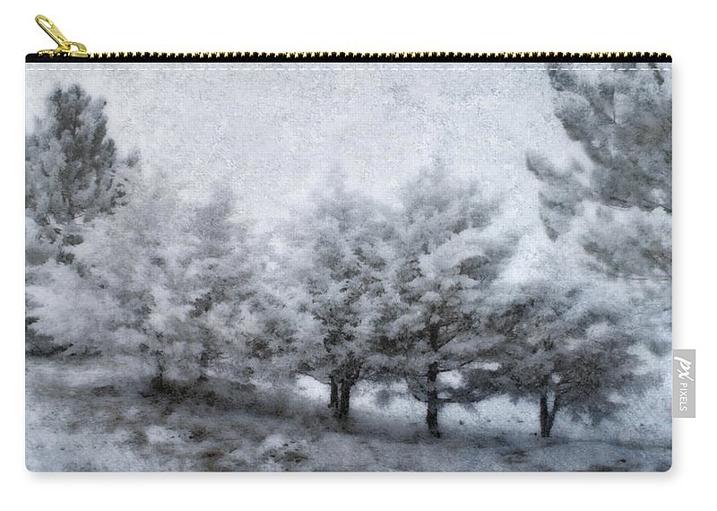 Weather Carry-all Pouch featuring the photograph Cold Spell by Ellen Heaverlo