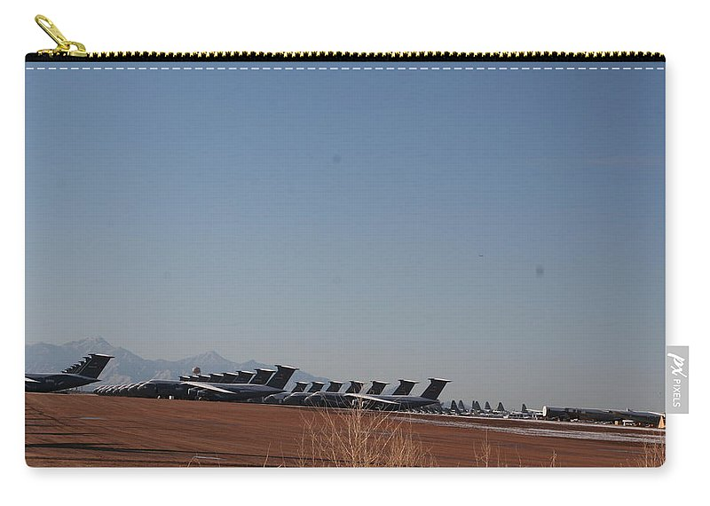 Air Force Carry-all Pouch featuring the photograph Cold Storage by David S Reynolds