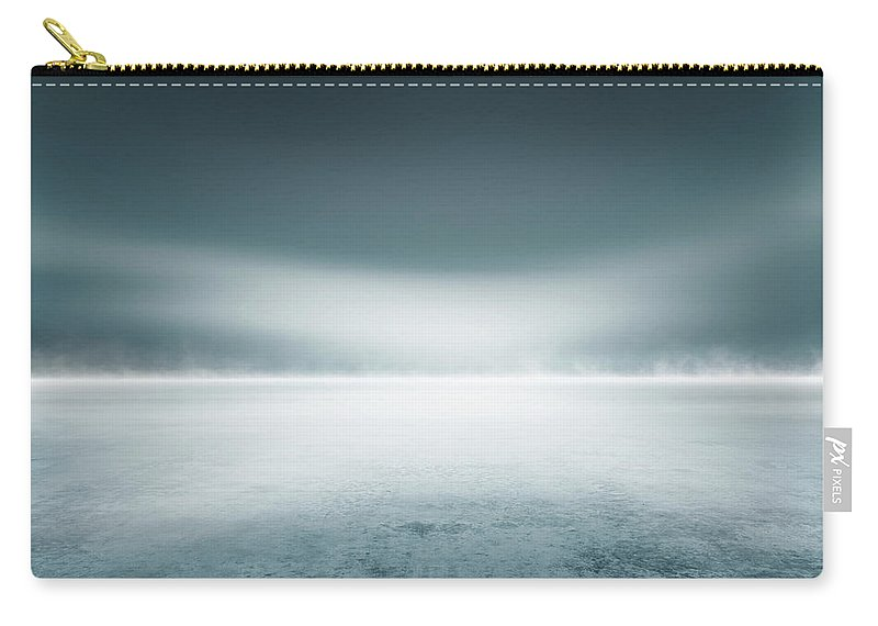 Tranquility Carry-all Pouch featuring the digital art Cold Studio Background by Aaron Foster