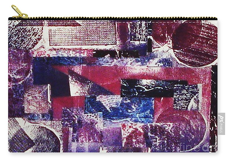 Print Making Carry-all Pouch featuring the relief Collage by Yael VanGruber