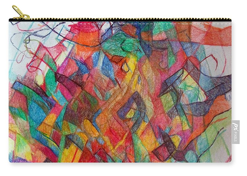 Torah Carry-all Pouch featuring the drawing Collecting Thought 3 by David Baruch Wolk