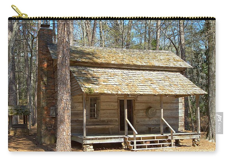8194 Carry-all Pouch featuring the photograph Colonial Cabin by Gordon Elwell