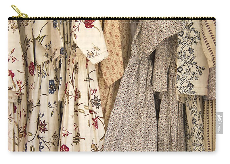 Dress Carry-all Pouch featuring the photograph Colonial Closet by Margie Hurwich