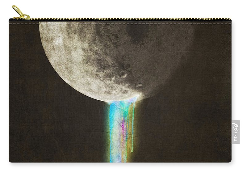 Moon Carry-all Pouch featuring the digital art Color Bleed by Eric Fan