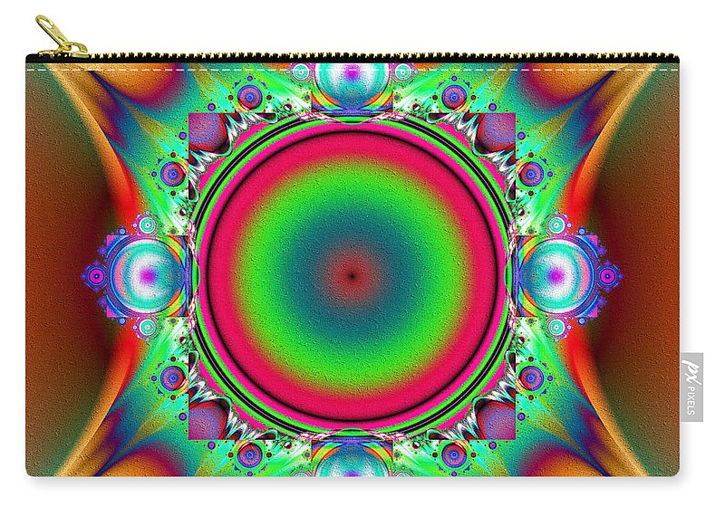 Color Carry-all Pouch featuring the digital art Color Cross by Kiki Art