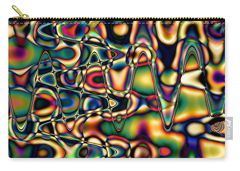 Abstract Carry-all Pouch featuring the digital art Color Cycles by Kiki Art