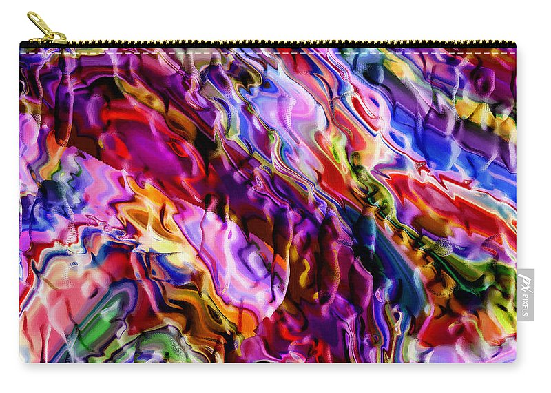 Abstract Color Colorful Evolution Expressionism 3d Structure Painting Modern Art Carry-all Pouch featuring the painting Color Evolution by Steve K