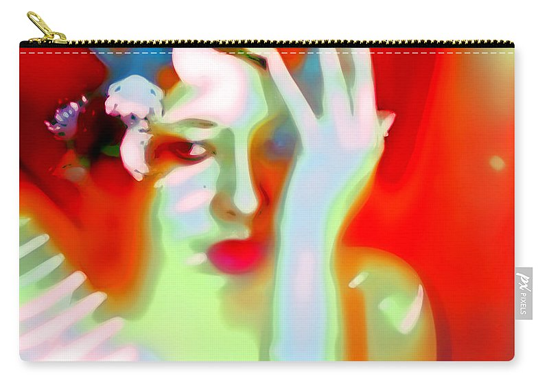 Abstract Emotive Carry-all Pouch featuring the photograph Color Me Blue by Jessica Shelton