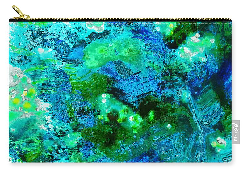 Abstract Carry-all Pouch featuring the photograph Color Wash Abstract In Blue by Regina Geoghan