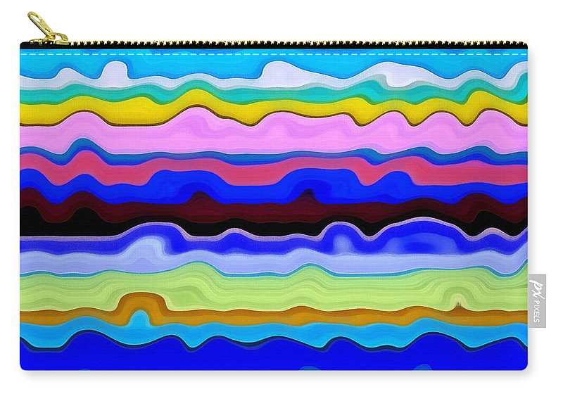 Textural Carry-all Pouch featuring the painting Color Waves No. 4 by Michelle Calkins