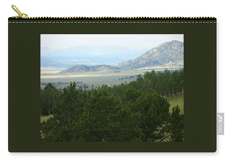 Lyle Carry-all Pouch featuring the painting Coloraado - Distance by Lord Frederick Lyle Morris - Disabled Veteran