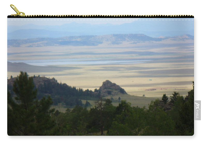 Lyle Carry-all Pouch featuring the painting Colorado - Blue by Lord Frederick Lyle Morris - Disabled Veteran