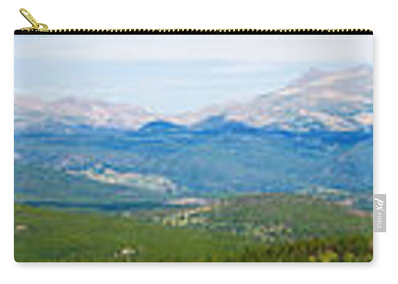 Rocky Mountains Carry-all Pouch featuring the photograph Colorado Continental Divide Panorama Hdr by James BO Insogna