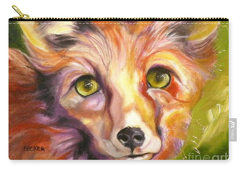 Oil Painting Carry-all Pouch featuring the painting Colorado Fox by Susan A Becker