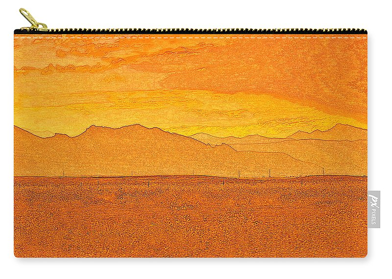 Colorado Carry-all Pouch featuring the photograph Colorado Heat by Mim White