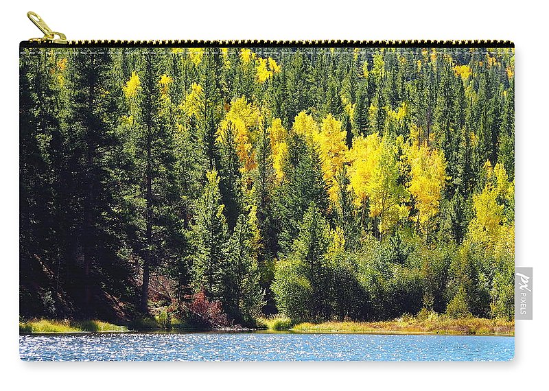 Aspen Carry-all Pouch featuring the photograph Colorado Mountain Lake In Fall by Amy McDaniel