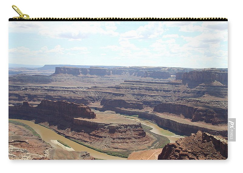 Colorado River Carry-all Pouch featuring the photograph Colorado River From Dead Horse Point by Christiane Schulze Art And Photography