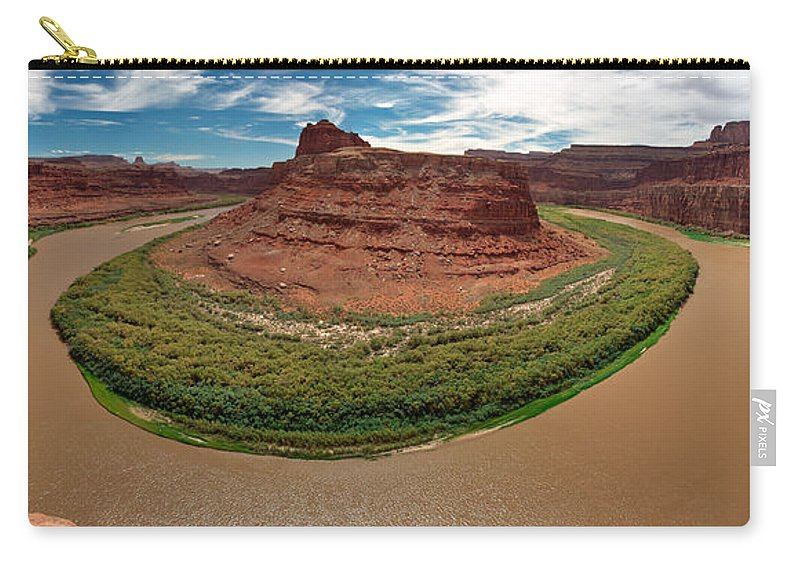 3scape Photos Carry-all Pouch featuring the photograph Colorado River Gooseneck by Adam Romanowicz