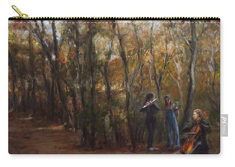 Musicians Carry-all Pouch featuring the painting Coloratura by Sarah Yuster