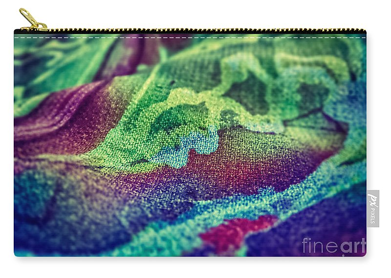 Abstract Photos Carry-all Pouch featuring the photograph Colored 2 by Justyna JBJart