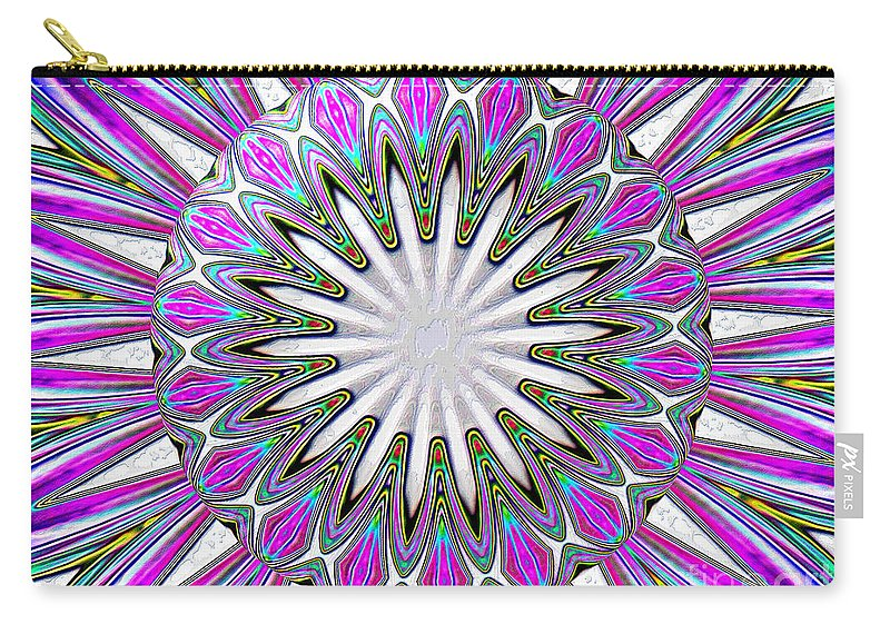 Lily Carry-all Pouch featuring the photograph Colored Foil Lily Kaleidoscope Under Glass by Rose Santuci-Sofranko