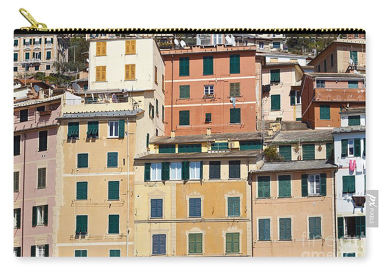 Architecture Carry-all Pouch featuring the photograph Colored Italian Facades by Antonio Scarpi