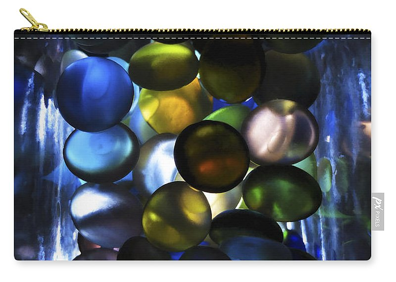 Carry-all Pouch featuring the photograph Colored Stones Of Light by Joseph Hedaya