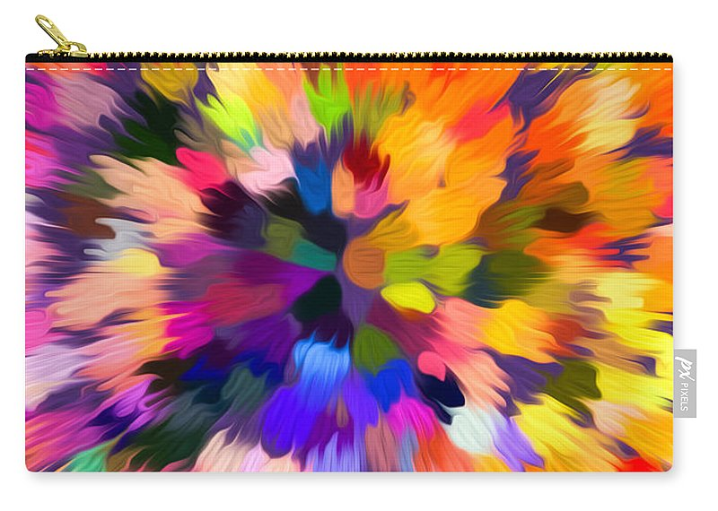 Abstract Carry-all Pouch featuring the painting Colorful Abstract Background by Jeelan Clark