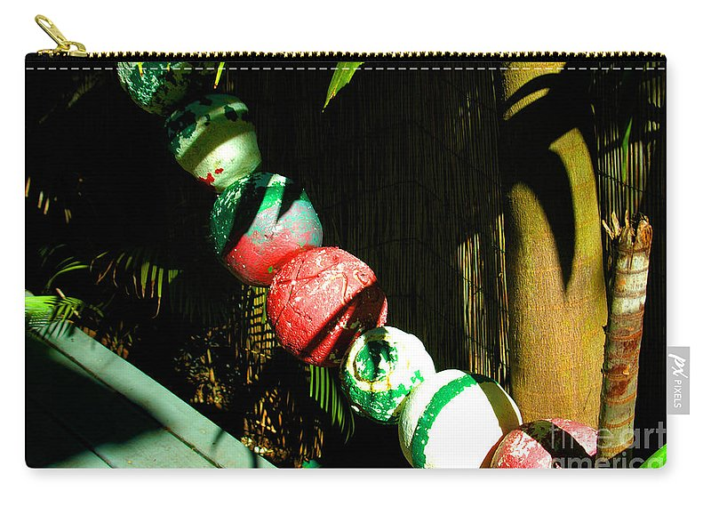 Buoy Carry-all Pouch featuring the photograph Colorful Accents In Florida Gardens by Susanne Van Hulst