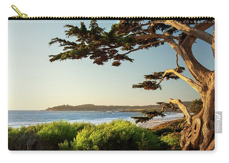 Scenics Carry-all Pouch featuring the photograph Colorful Beachfront In Carmel-by-the-sea by Pgiam
