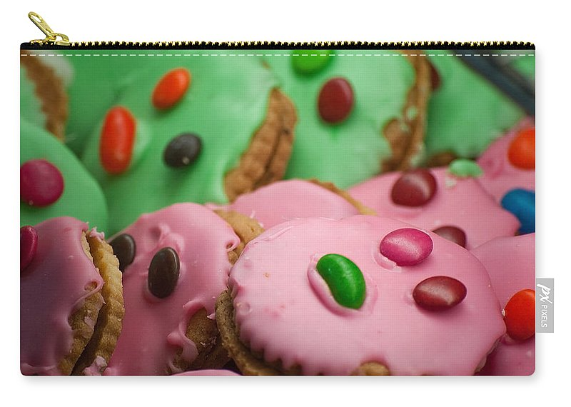 Cookie Carry-all Pouch featuring the photograph Colorful Candy Faces by Michelle Wrighton