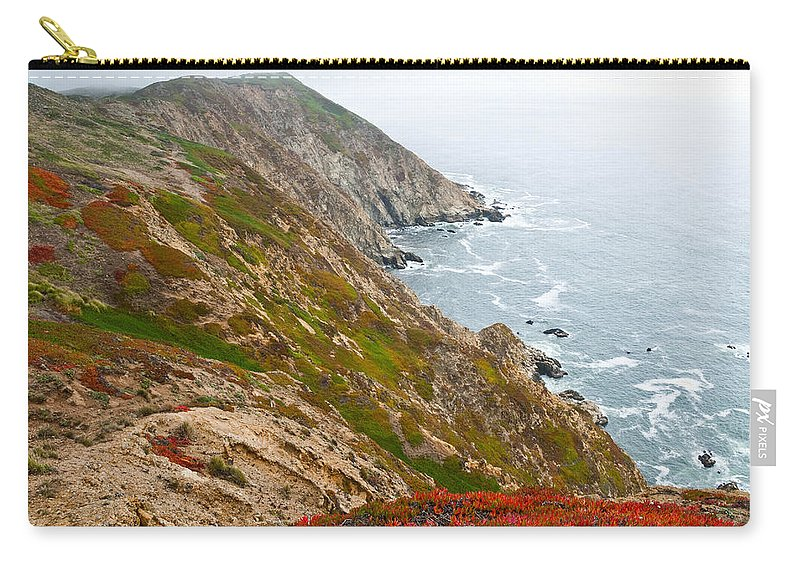 Beauty In Nature Carry-all Pouch featuring the photograph Colorful Cliffs At Point Reyes by Jeff Goulden