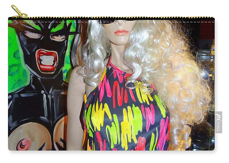 Mannequins Carry-all Pouch featuring the photograph Colorful Cutie by Ed Weidman