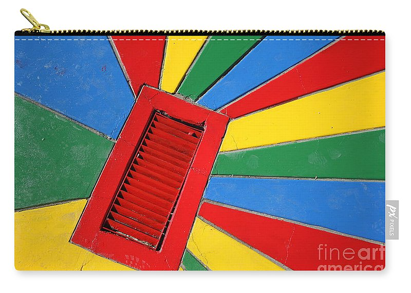 Drain Carry-all Pouch featuring the photograph Colorful Drain by James Brunker