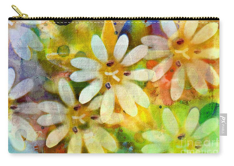 Nature Carry-all Pouch featuring the photograph Colorful Floral Abstract I by Debbie Portwood