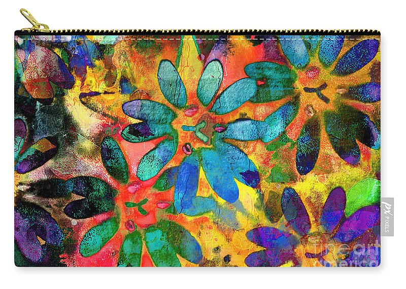 Nature Carry-all Pouch featuring the photograph Colorful Floral Abstract IIi by Debbie Portwood