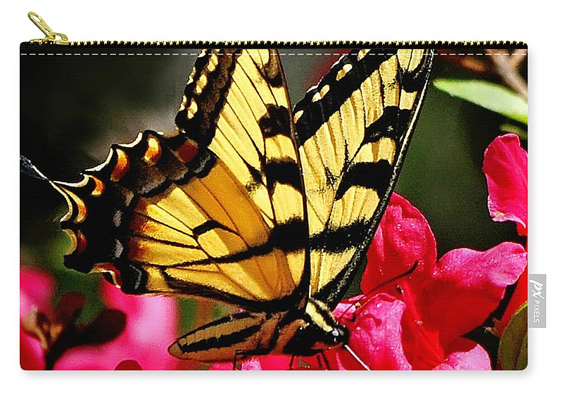 Nature Carry-all Pouch featuring the photograph Colorful Flying Garden by Nava Thompson
