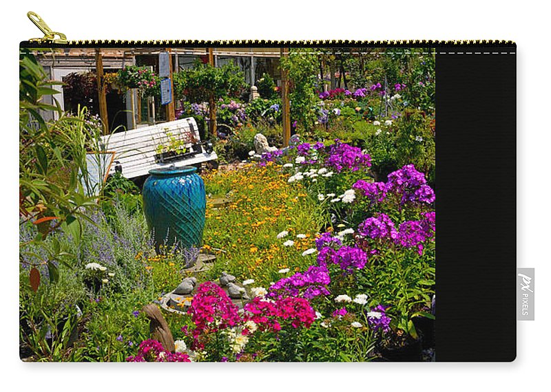 Cloud Carry-all Pouch featuring the photograph Colorful Greenhouse by Amy Cicconi
