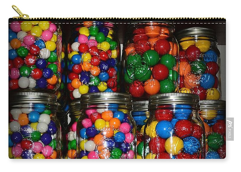Paul Ward Carry-all Pouch featuring the photograph Colorful Gumballs by Paul Ward