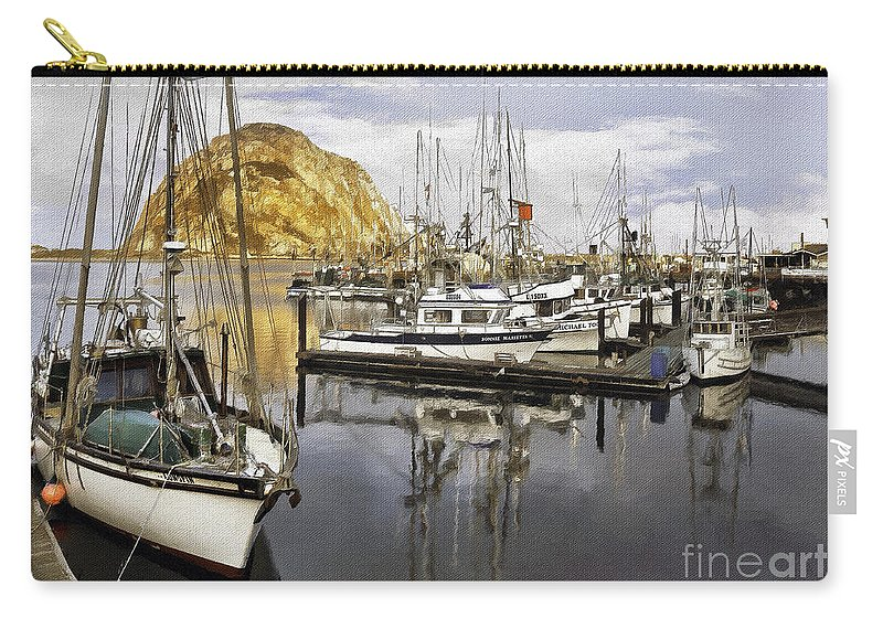 Harbor Carry-all Pouch featuring the photograph Colorful Harbor II Impasto by Sharon Foster