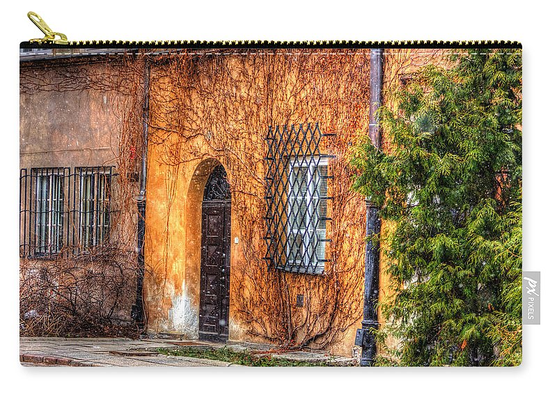 Hdr Carry-all Pouch featuring the photograph Colorful Houses In Warsaw by Pati Photography