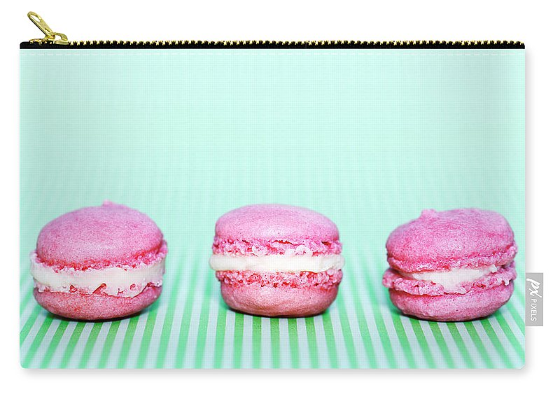 Temptation Carry-all Pouch featuring the photograph Colorful Macaroons by Tarek El Sombati