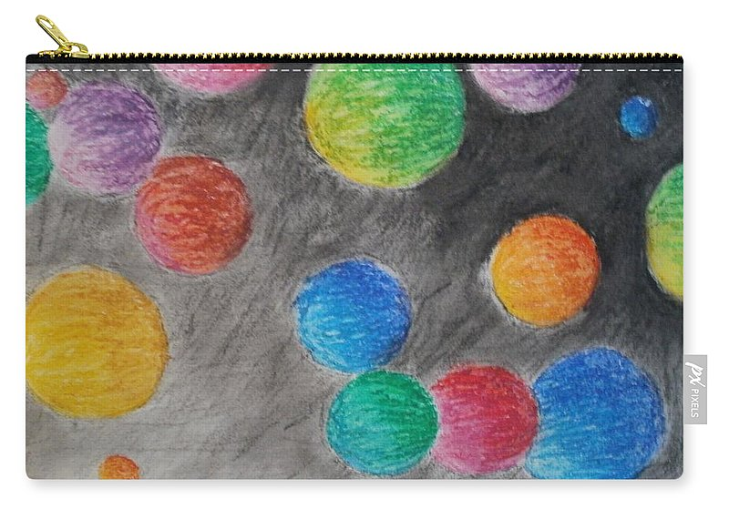 Orb Carry-all Pouch featuring the drawing Colorful Orbs by Thomasina Durkay