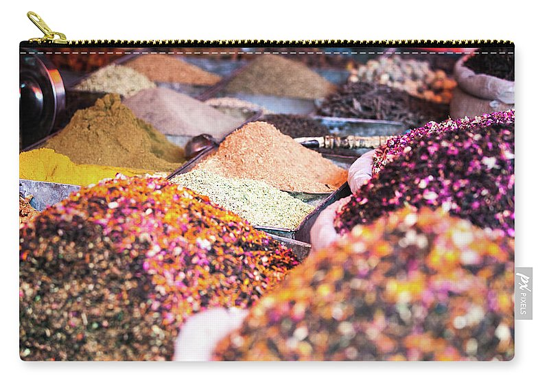 Heap Carry-all Pouch featuring the photograph Colorful Spices For Sale At Kashgar by Matteo Colombo