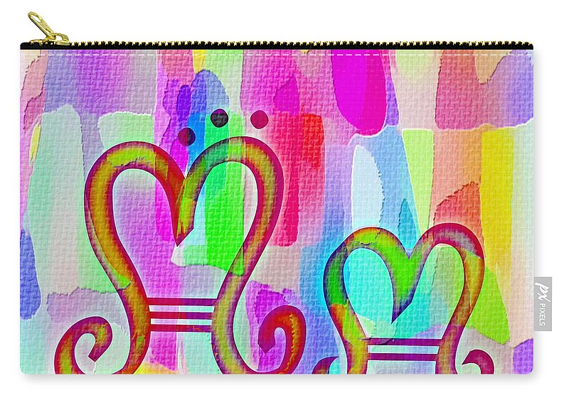 Colorful Texturized Alphabet Mm Carry-all Pouch featuring the digital art Colorful Texturized Alphabet Mm by Barbara Griffin